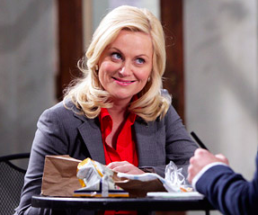 "Amy Poehler as Leslie Knope in ""Parks & Recreation"""