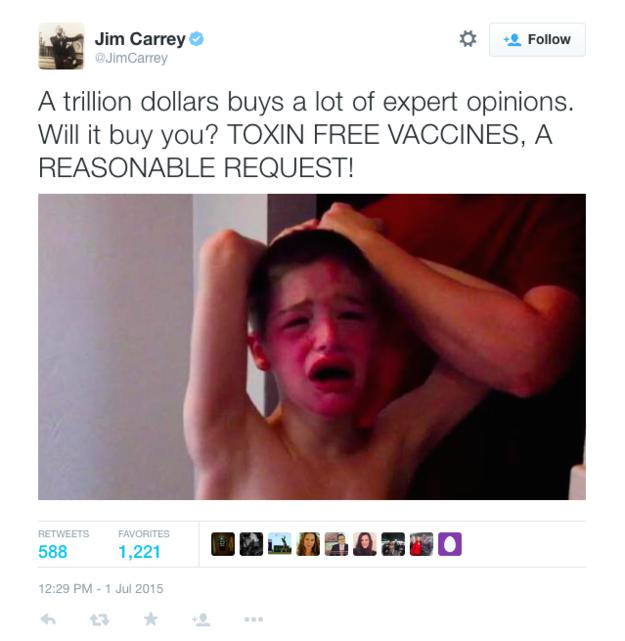 jim carrey deleted alex nichols tweet