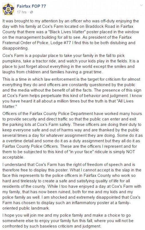 fairfax co fb post
