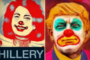 pres candidates as clowns