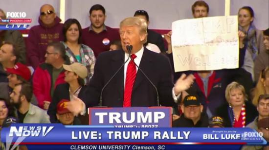 trump steaks rally