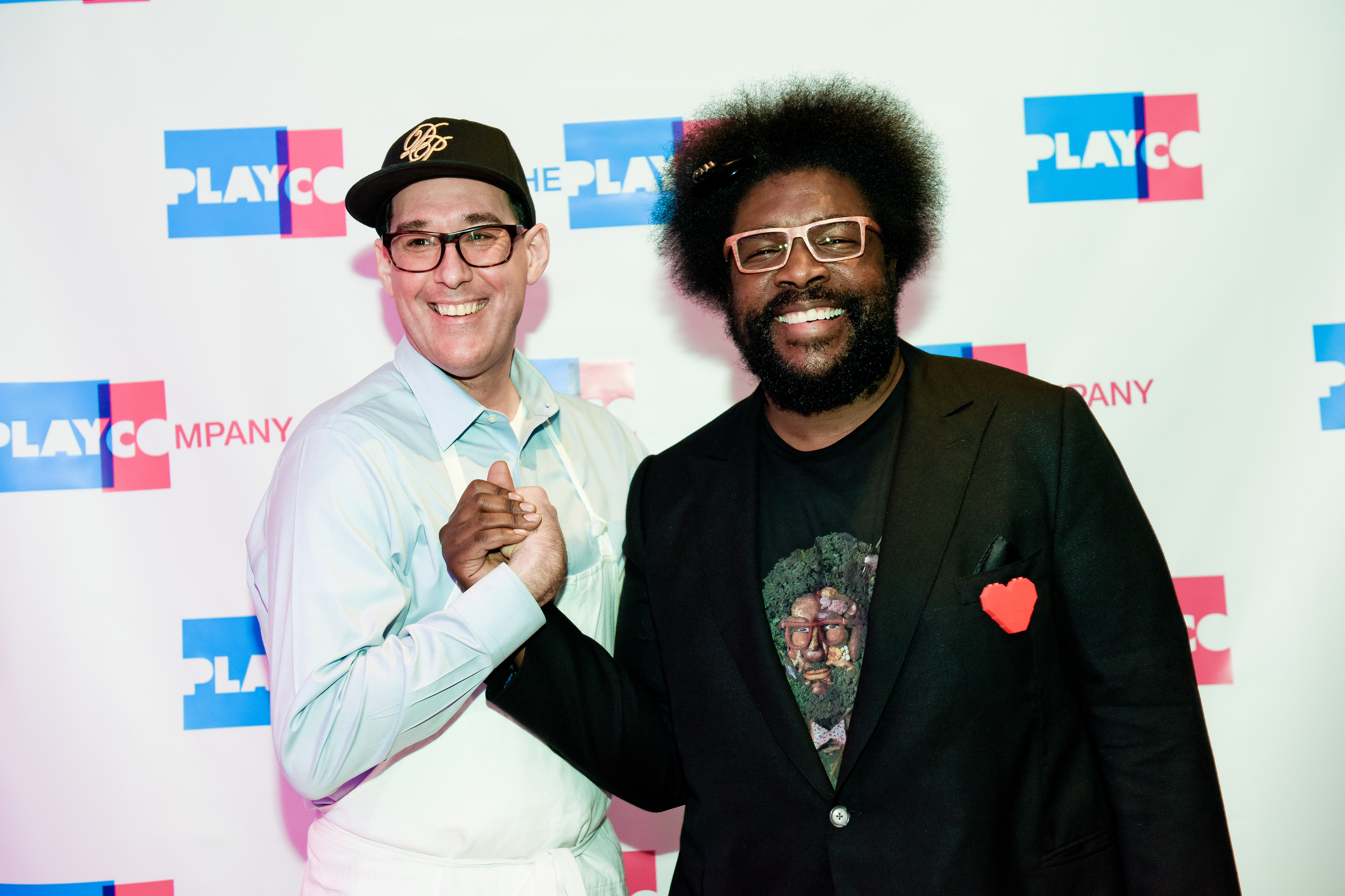 Questlove greets board members of The Play Company at their 15th Annual Gala at ESpace in New York City April 11, 2016. Photo: David Handschuh