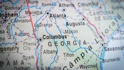 Georgia, map