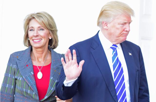 Betsy DeVos & Donald Trump (Shutterstock)