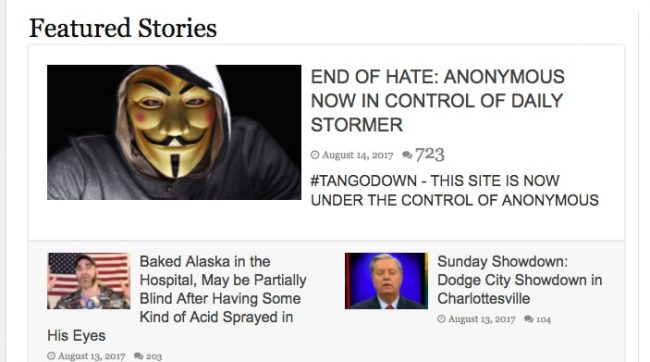 Did Anonymous Hack Neo-Nazi Website Daily Stormer? — Here's What ...