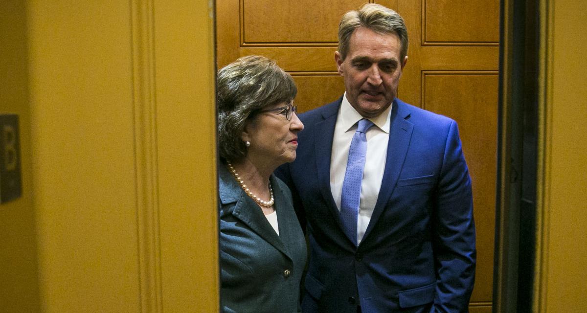 .S. Sen. Susan Collins (R-ME) and Sen. Jeff Flake (R-AZ)