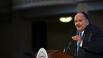 Martin Luther King III speaks at the annual National Action Network Breakfast on January 21, 2019 in Washington, DC. The event was hosted by Rev. Al Sharpton