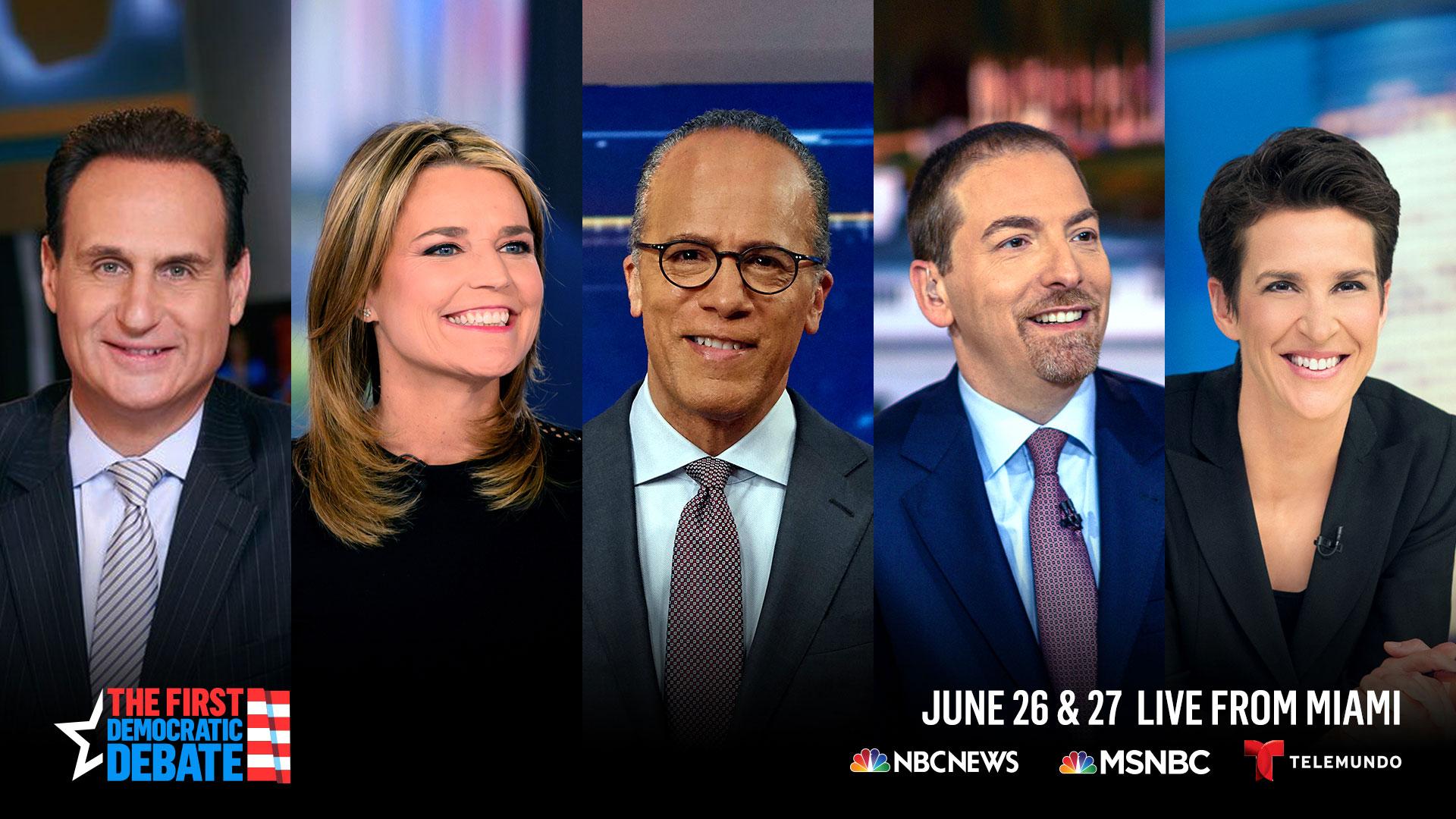 NBC Announces Moderators for First 2020 Debate