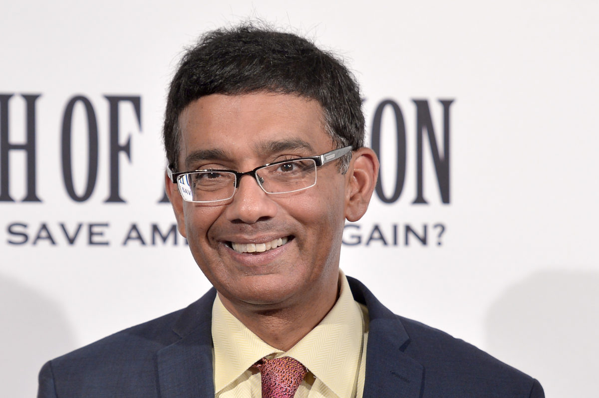 """WASHINGTON, DC - AUGUST 01: Dinesh D'Souza attends the DC premiere of his film, """"Death of a Nation,"""" at E Street Cinema on August 1, 2018 in Washington, DC. (Photo by Shannon Finney/Getty Images)"""