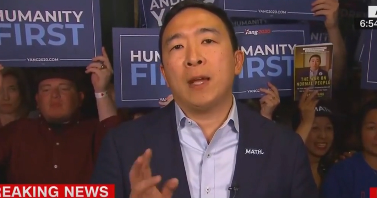 In a CNN interview, 2020 candidate Andrew Yang attacks MSNBC over debate format and bias.