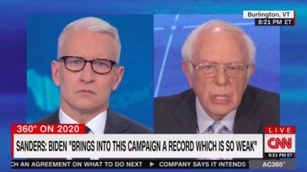 Bernie Sanders Calls Out Joe Biden's Record as 'Weak' Against Trump