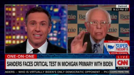 Bernie Sanders and Chris Cuomo Spar Over 'Dem Establishment' Argument