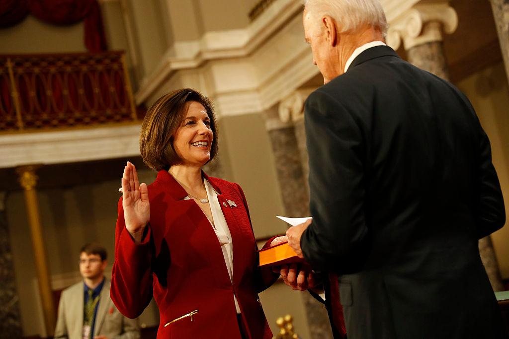 Biden Swears In Catherine Cortez-Masto