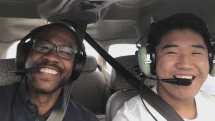 16 year old pilot delivers ppe
