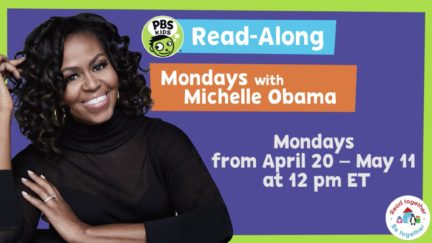 michelle obama read along with pbs