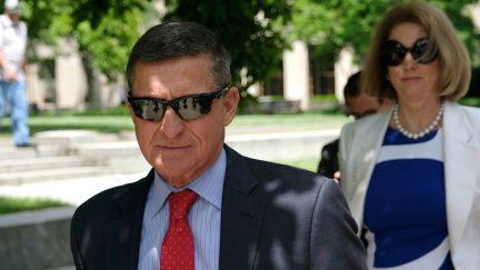 Former Trump National Security Advisor Michael Flynn and attorney Sidney Powell