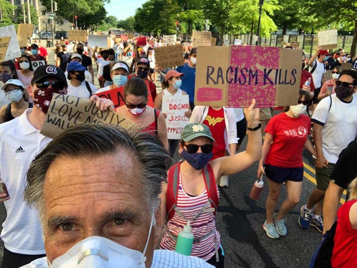 mitt romney at black lives matter protest
