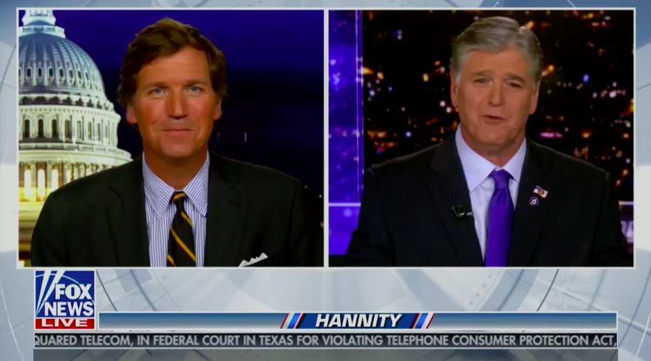 Tucker, Hannity Tie for First in Primetime Cable News Ratings