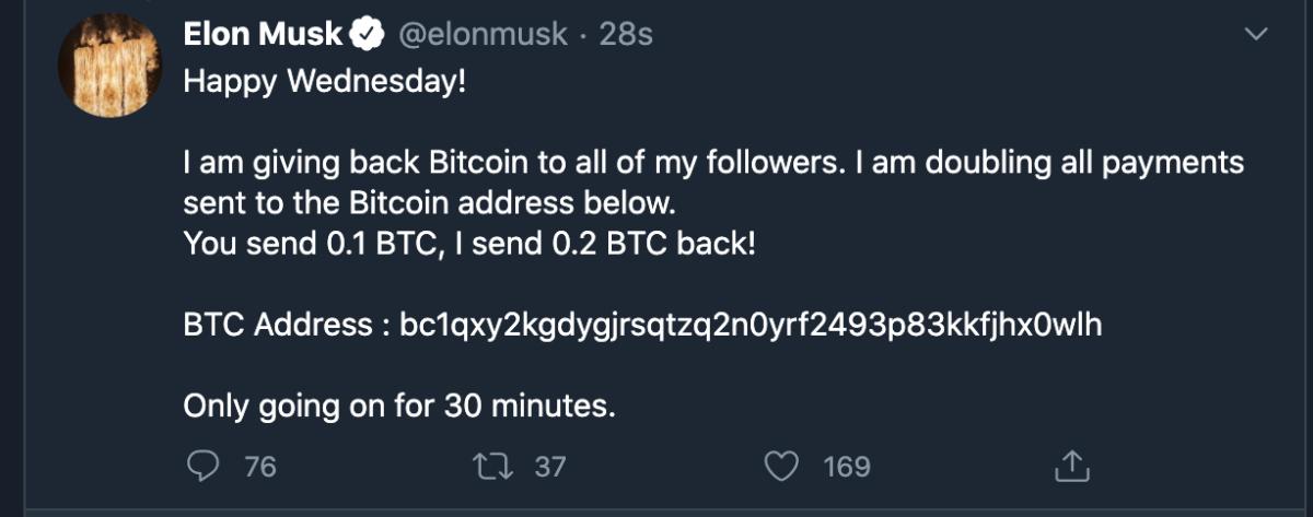 elon musk twitter hack