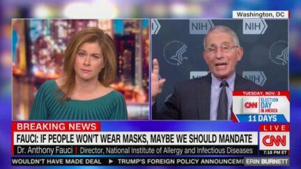 Dr. Fauci Endorses Mask Mandate Similar to Biden Plan, Brushes Off Trump's False Claim That He's a Democrat