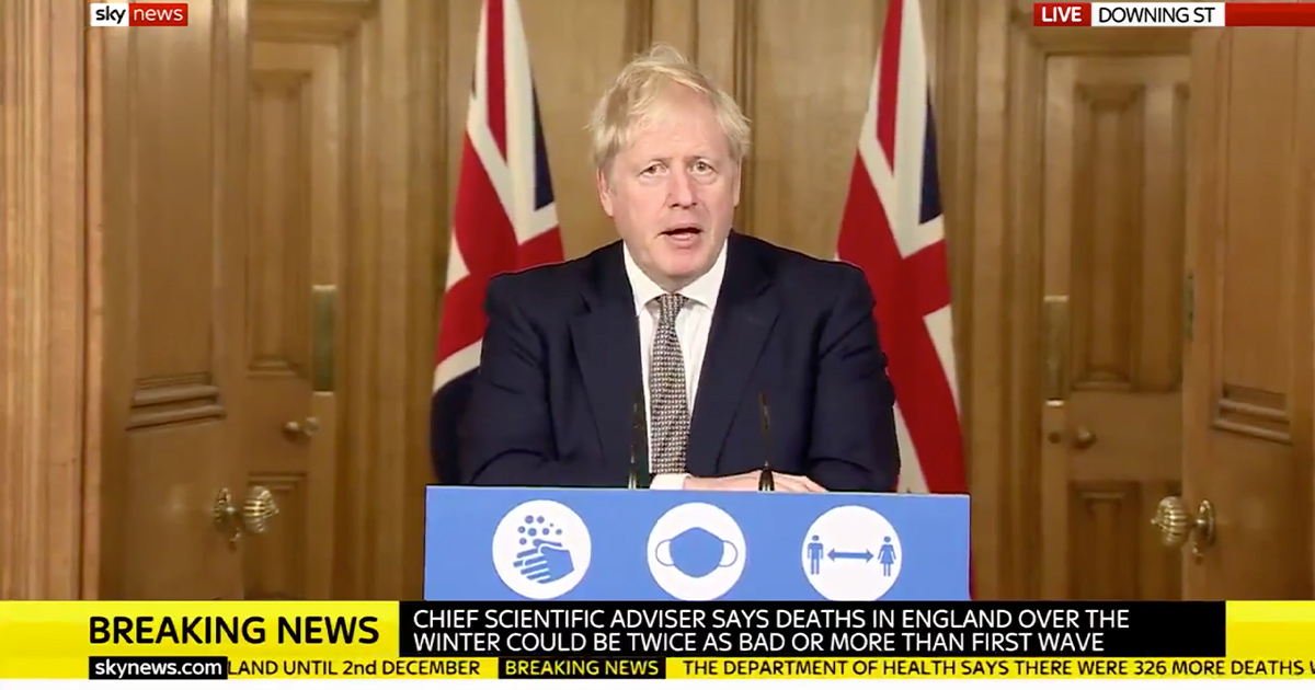 British PM Johnson Announces Four-Week COVID Lockdown for UK