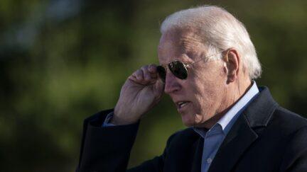 Joe Biden wearing sunglasses