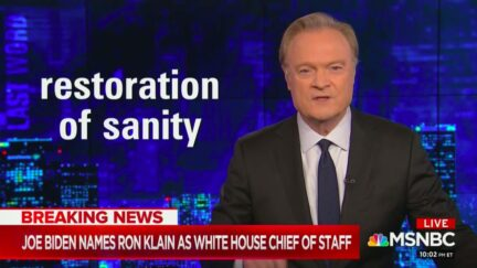 Lawrence O'Donnell Says Biden Chief of Staff Ron Klain Will Be 'Restoration of Sanity'