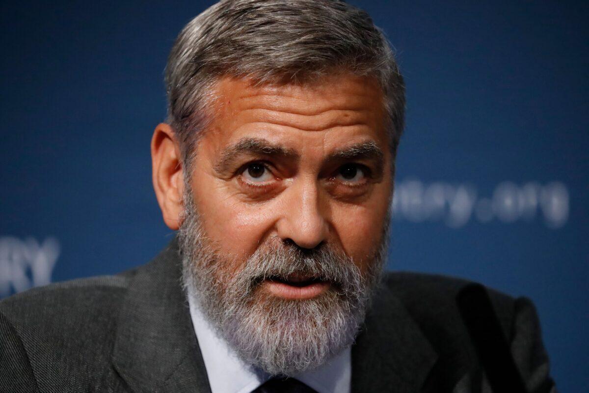 George Clooney Trump Mask