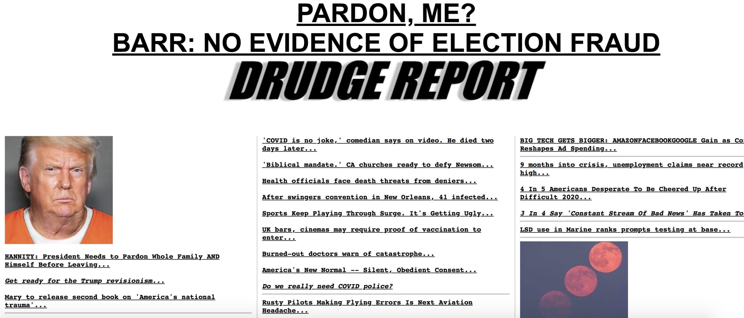 Drudge Report Features Photoshopped Pic of Trump in a Prison Jumpsuit