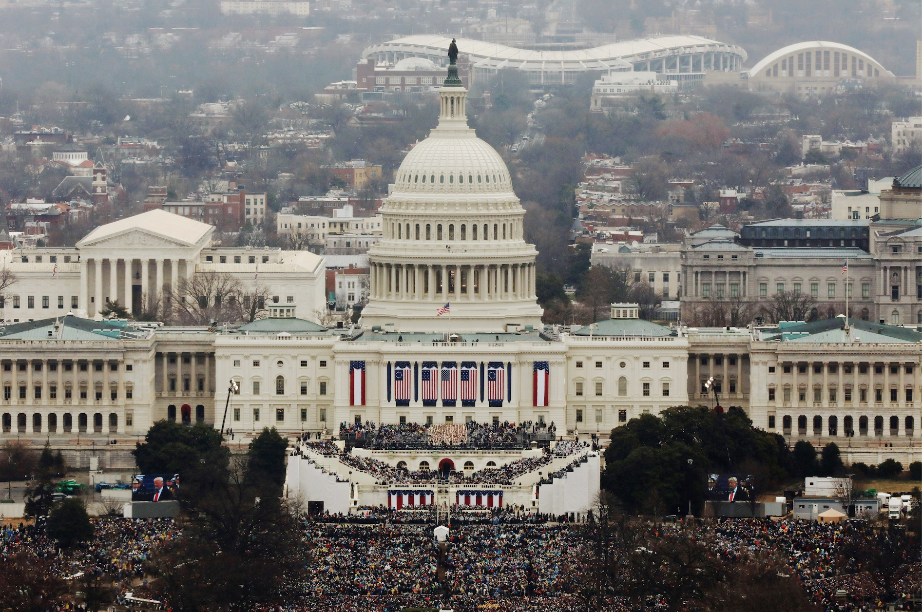Trump Inauguration Lucas Jackson/Getty Images