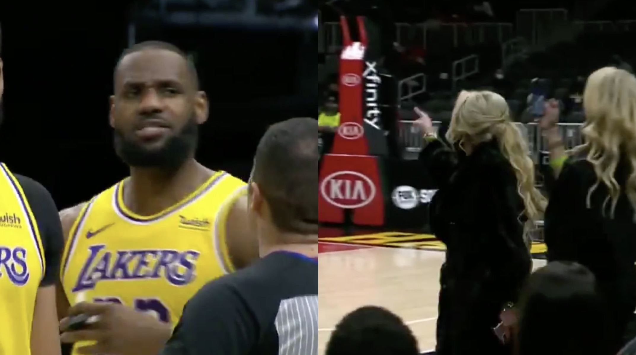 Fan ejected after altercation with LeBron James