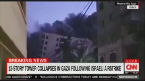 Gaza residential building destroyed in Israeli attack