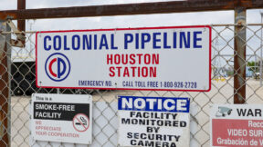 Colonial Pipeline Houston Station facility in Pasadena, Texas taken on May 10, 2021