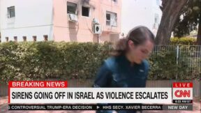 Hadas Gold flees live CNN shot from Israel