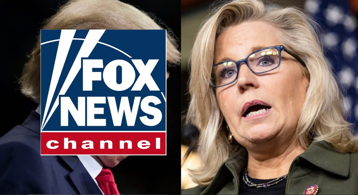 Fox News Logo and Liz Cheney