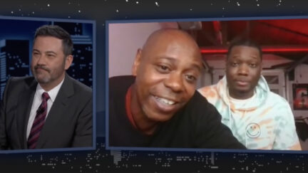 Dave Chappelle Crashes Michael Che Interview on Jimmy Kimmel Live