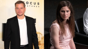 Matt Damon and Amanda Knox