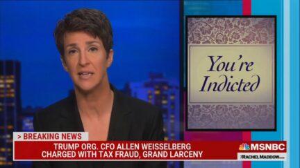 Rachel Maddow hosts The Rachel Maddow Show on MSNBC