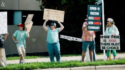 Covid vaccine protest