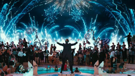 Image from Great Gatsby party scene.