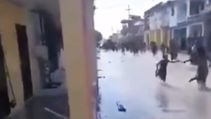 Residents flee as seawater begins to flood small town after earthquake strikes Haiti