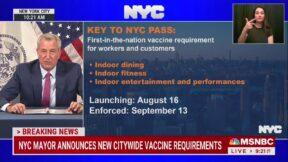 Bill de Blasio Announces Vaccine Mandates