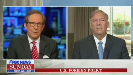 Chris Wallace and Mike Pompeo on Fox News Sunday