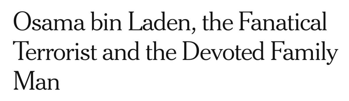 New York Times bin Laden headline