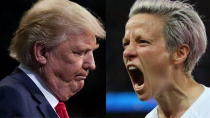 Trump and Megan Rapinoe