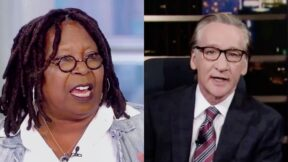 Bill Maher Lectures Whoopi Goldberg on Black National Anthem