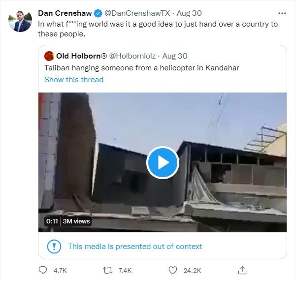 Dan Crenshaw tweet