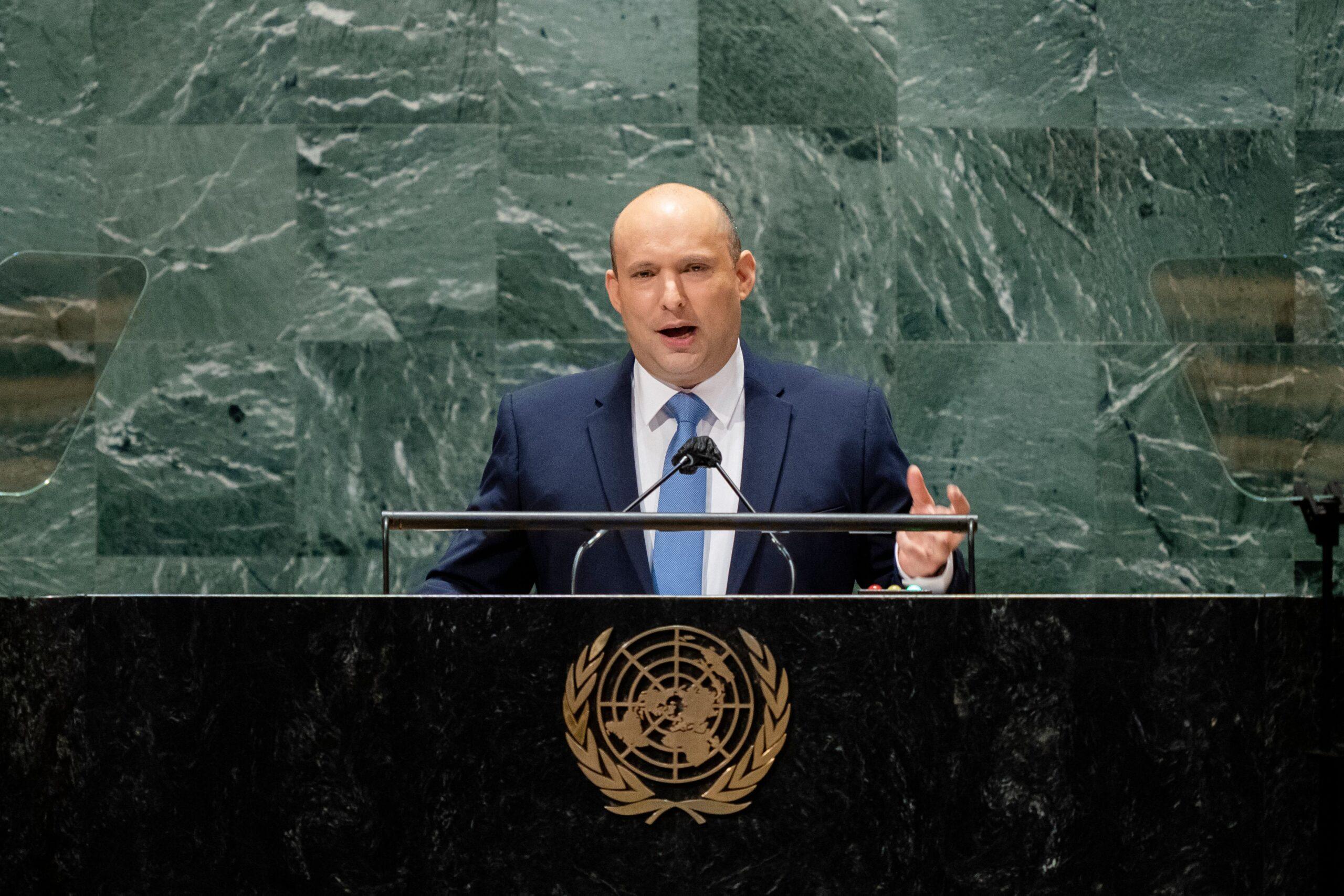 Israeli Prime Minister Naftali Bennett addresses 2021 UNGA on Sept. 27