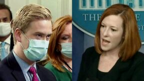 Press Briefing Jen Psaki Stops Peter Doocy's 'Quick One on Boosters' in Its Tracks