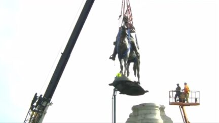 Robert E Lee Statue Removed in Virginia